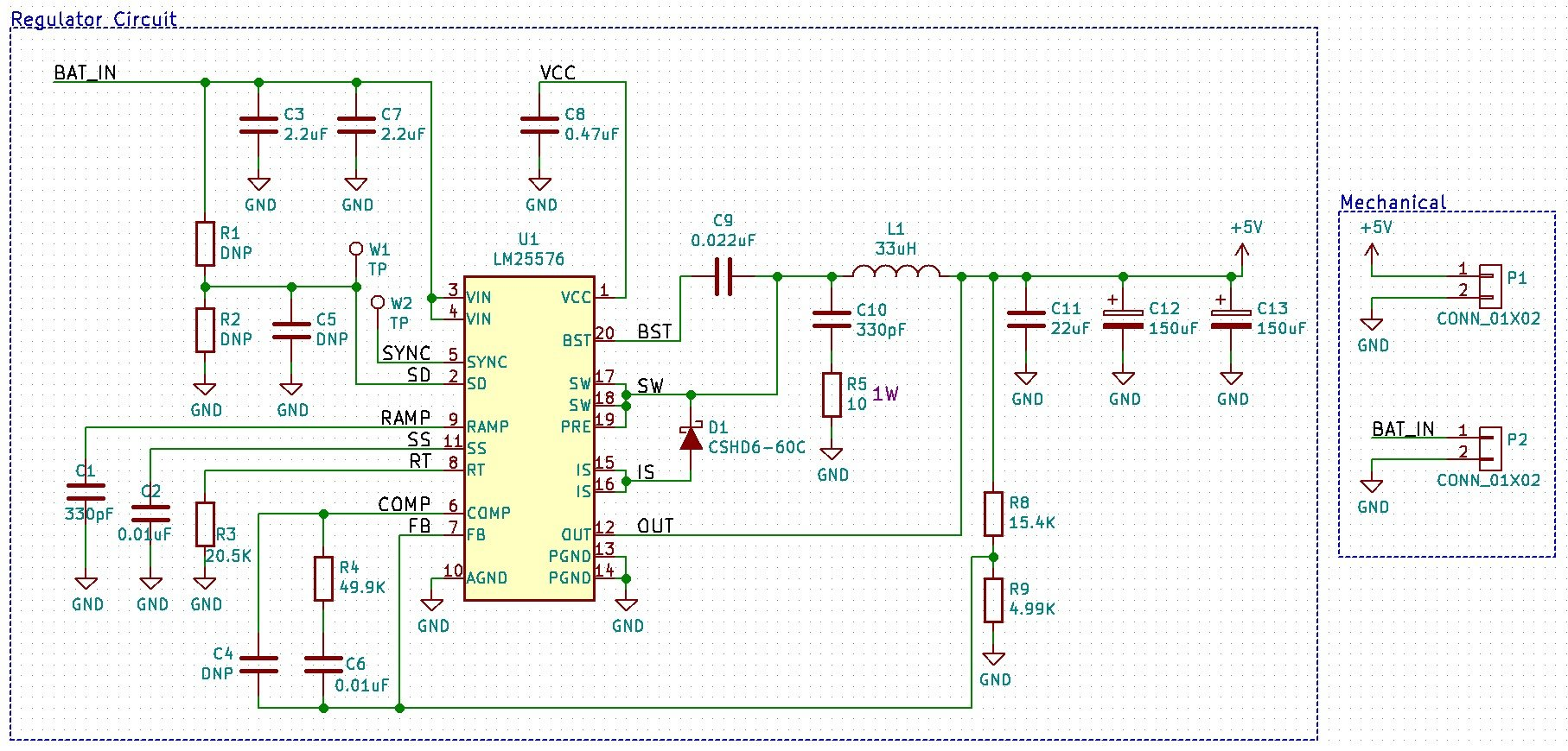 C Biscuit Power 5v 3a Buck Regulator For Wandboard Circuit Schematic Diagram Of Dc Regulated Phone Charger Board Layout