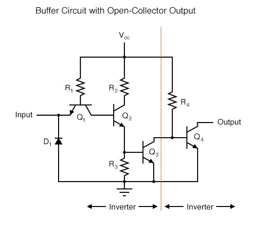 Buffer Circuit with Open-Collector Output