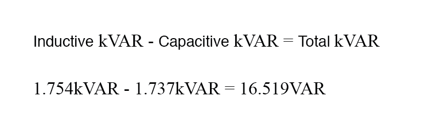 capacitor reactive-power subtract from load reactive power