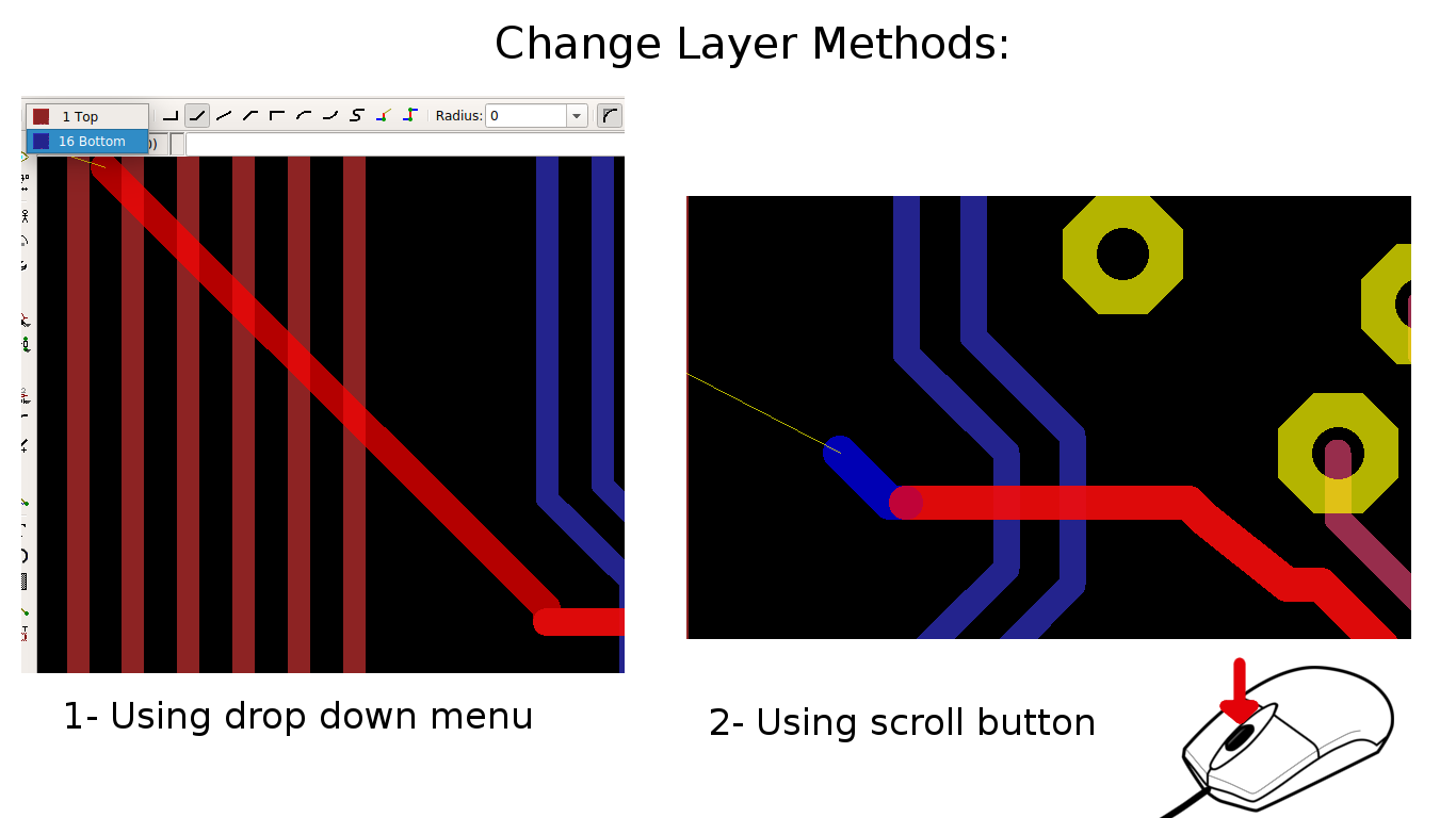Easier Pcb Design Eagle Cad Tips And Tricks Layout New Style For 20162017 Change Layer Using Scroll Button