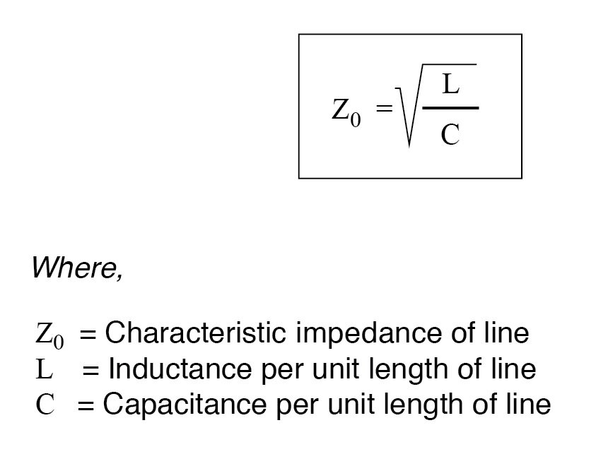 inductance per unit length divided by the line's capacitance per unit length