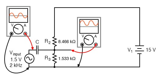 Combined AC and DC circuit.