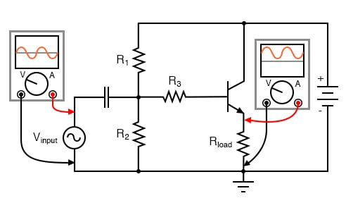 Common collector (emitter follower) amplifier.