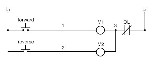 Reversal of phase wires results in the motor spinning the opposite direction.