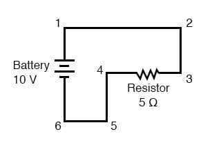 convoluted path in forming a complete circuit