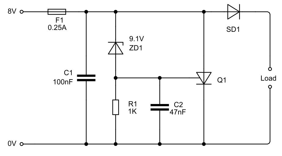 Protection Circuit for 5V Regulator - ALLPCB com