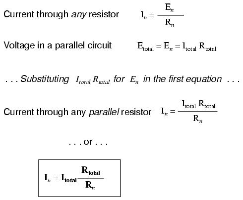 current divider circuits and the current divider formula dividerresistance to individual resistance is the same ratio as the individual (branch) current to total current this is known as the current divider formula,