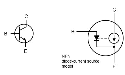 Current source model of transistor.