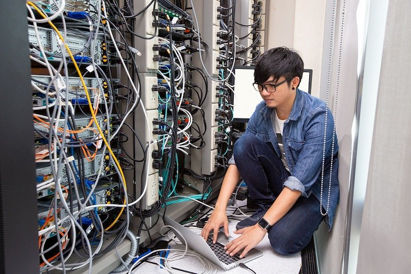 Data center employee