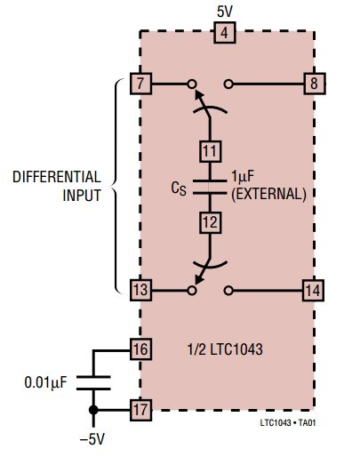 Diagram of the Linear Technology LTC1043