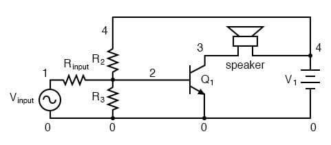 Direct coupled amplifier: direct coupling to speaker.
