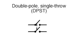 Double-pole, single-throw