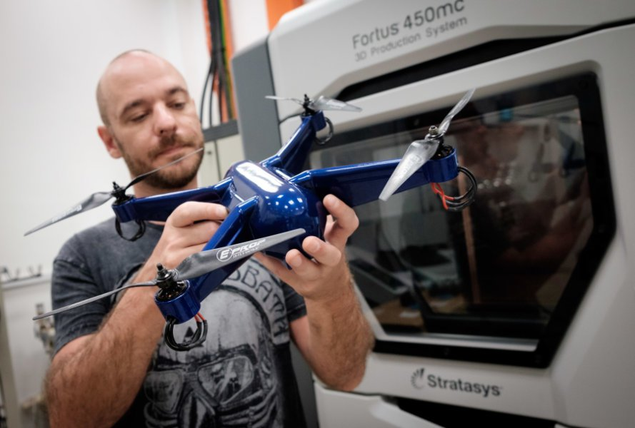 3D-Printed Embedded Electronics Make this Drone Ready to Fly