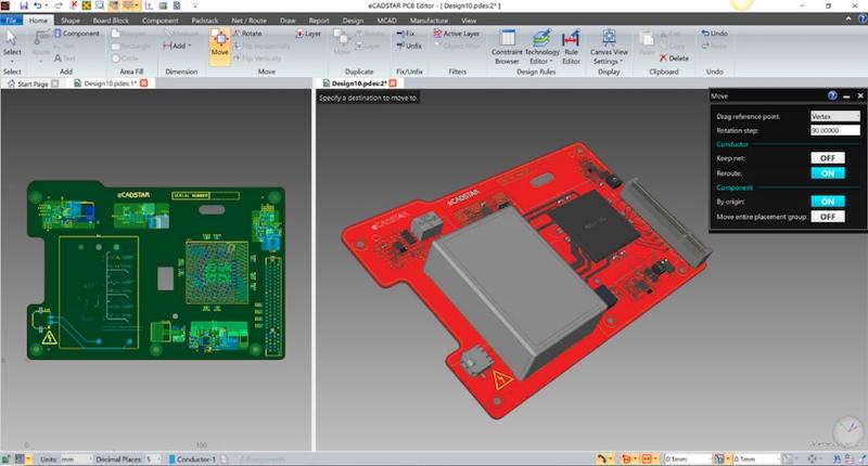 eCADSTAR's PCB Editor.