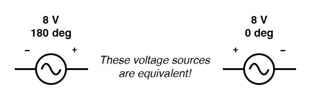 Example of equivalent voltage sources.