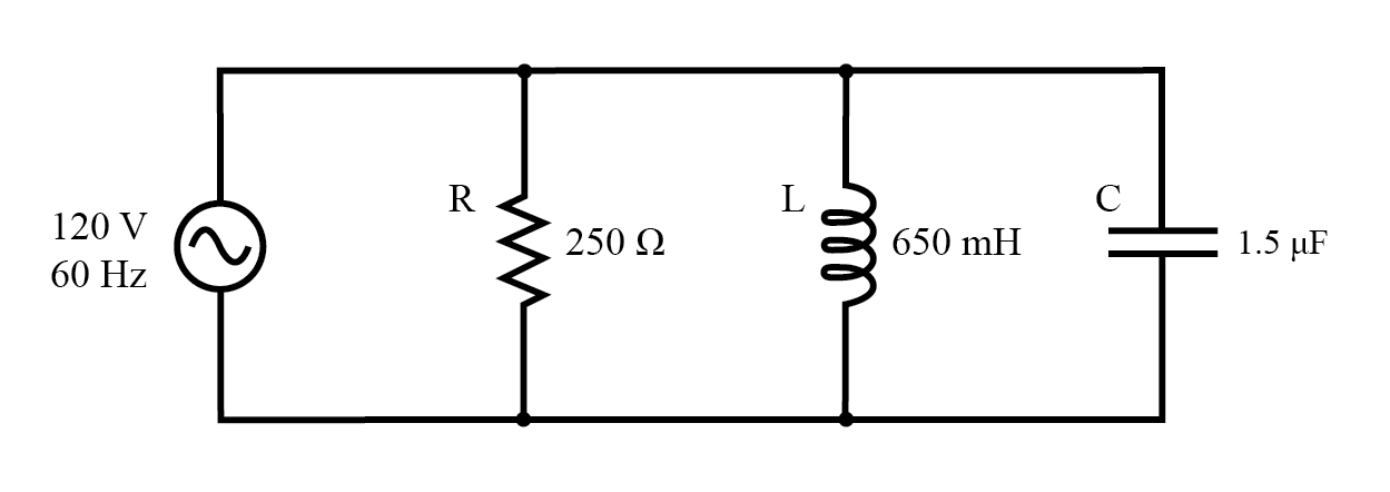 parallel r  l  and c