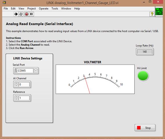 Build an Arduino-LabVIEW Analog Voltmeter