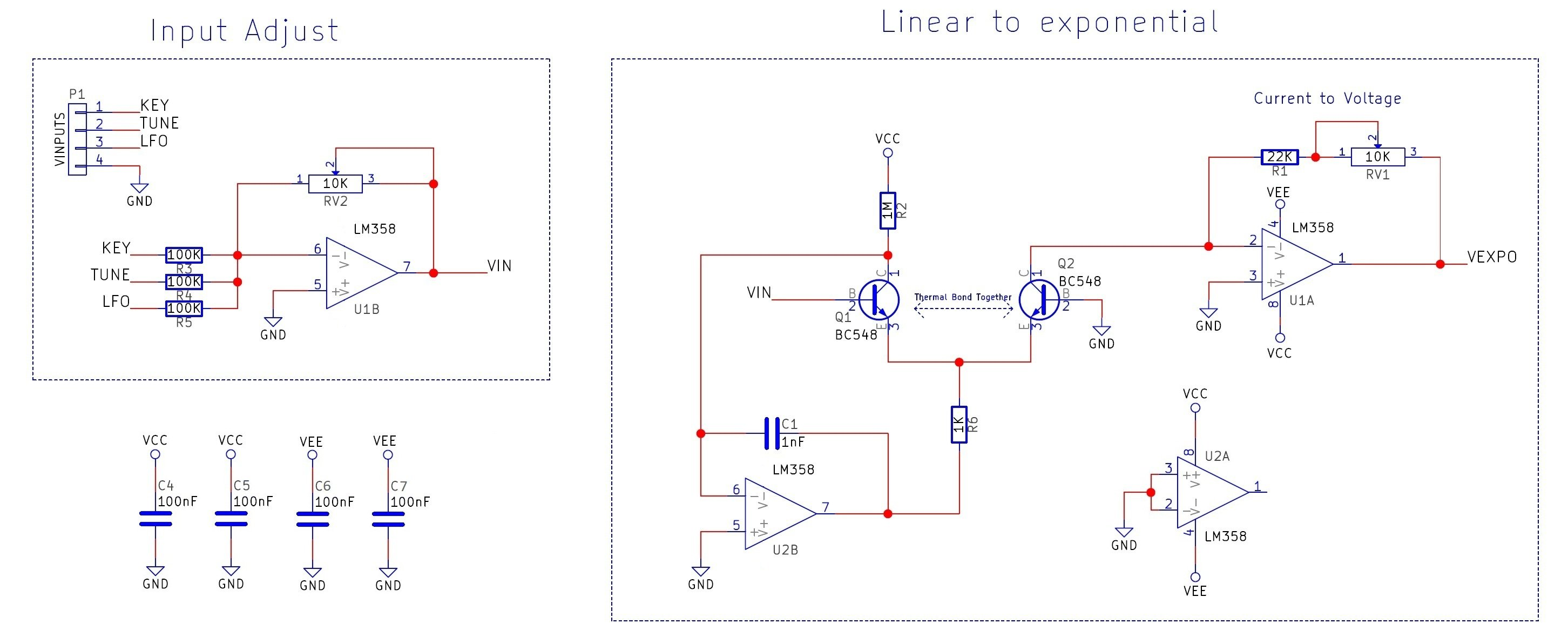 Diy Synth Series Part 1 The Exponential Vco Dual Power Quad Opamp Circuit Filtercircuit Basiccircuit Click To Enlarge