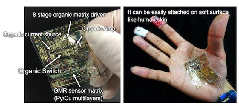 A flexible sensor system.