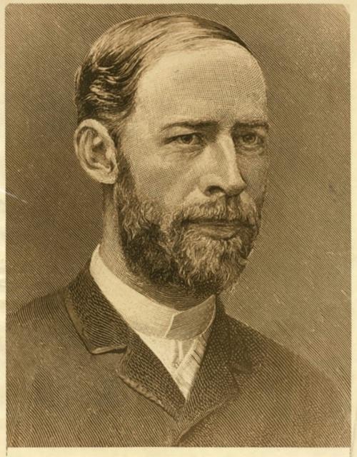 Portrait of Heinrich Hertz.