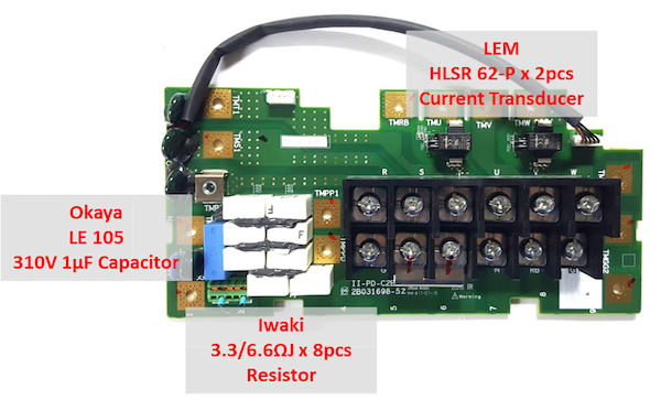 hitachi sj series p1 Line Input and 3-Phase Output Contactor Board