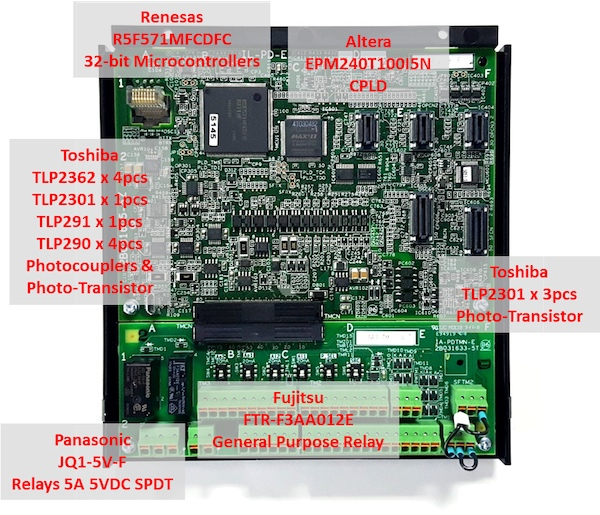 Hitachi SJ series p1 main controller board