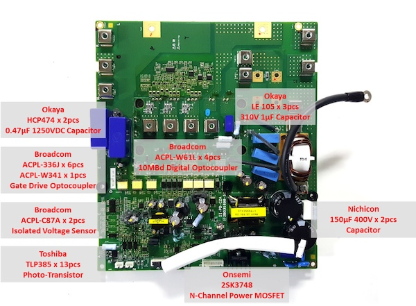 hitachi sj series p1 power electronic board view