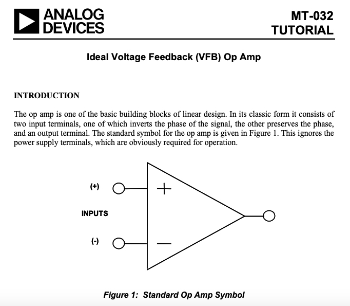 ideal voltage feedback (VFB) op-amps
