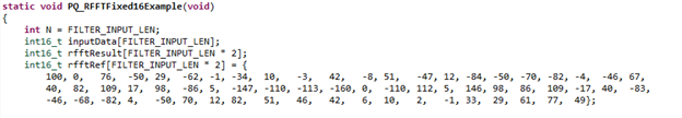 This part of the code defines the test-data and the expected results.