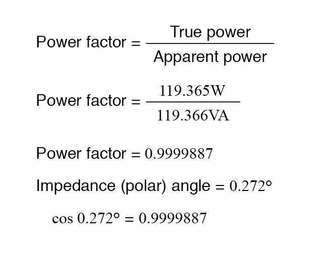 impedance polar angle
