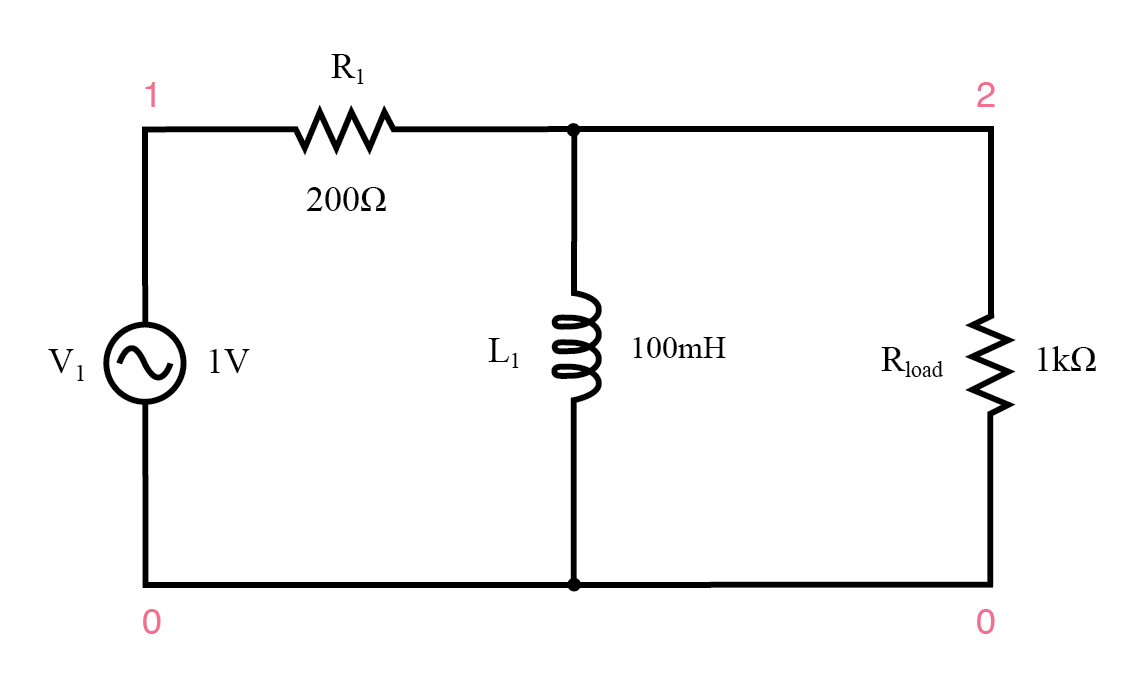 Inductive high-pass filter.