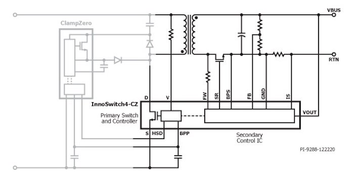 A schematic of InnoSwitch4-CZ.