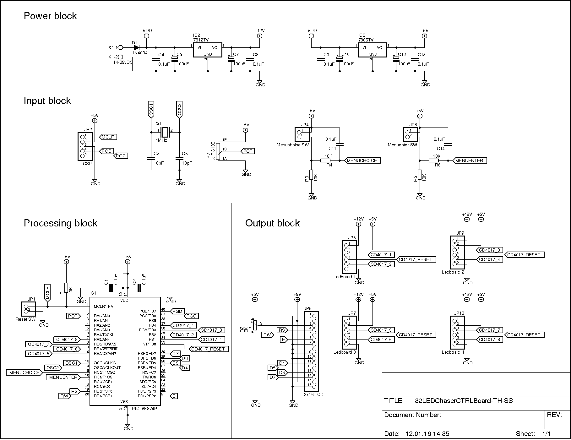 Led Chaser With A Twist Simple Running Circuit Using 3 Transistors Click On Image For Full Resolution