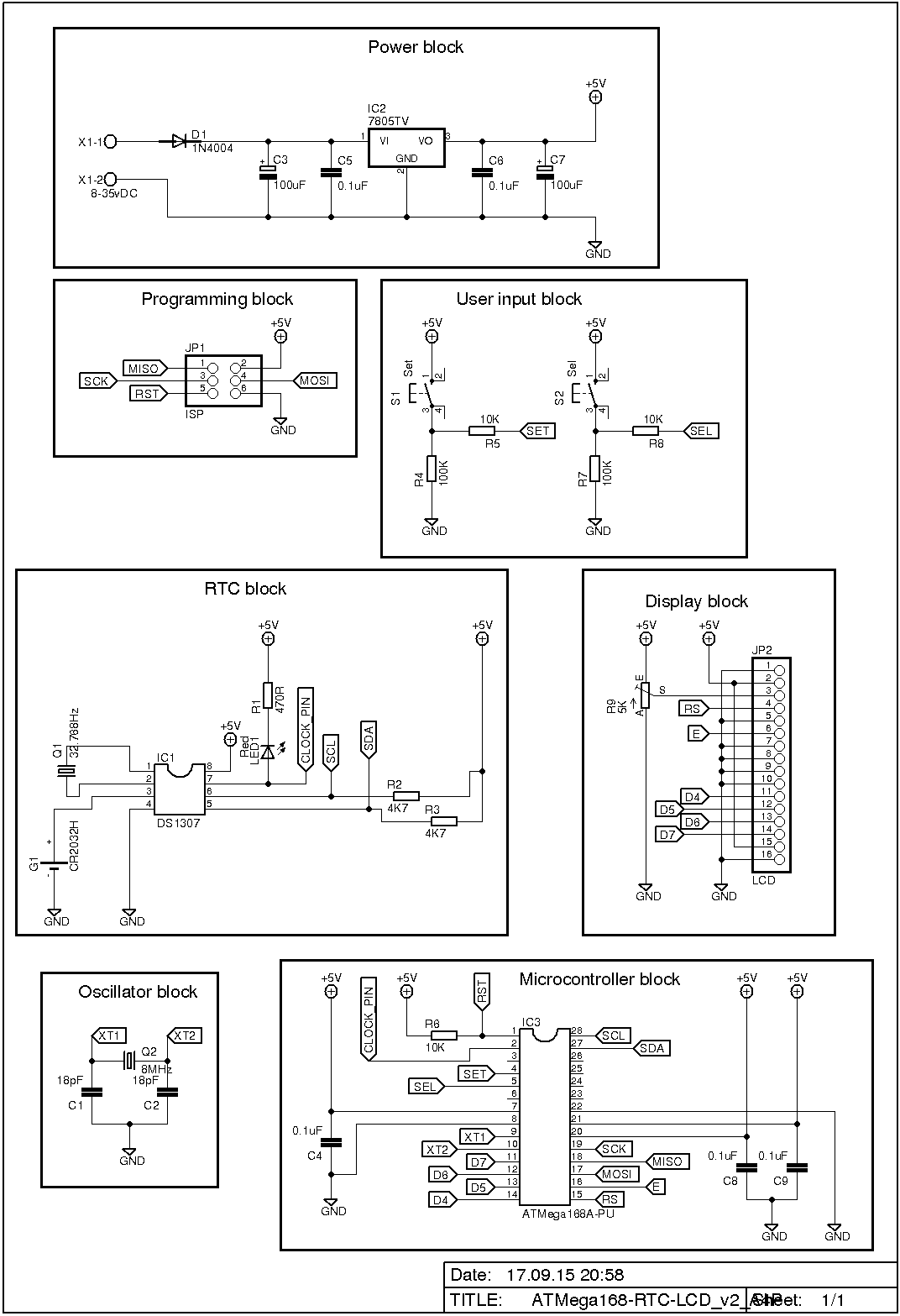 How To Use Rtc With Arduino And Lcd Ds3231 Real Time Clock Circuit Schematics Click On Image For Full Size