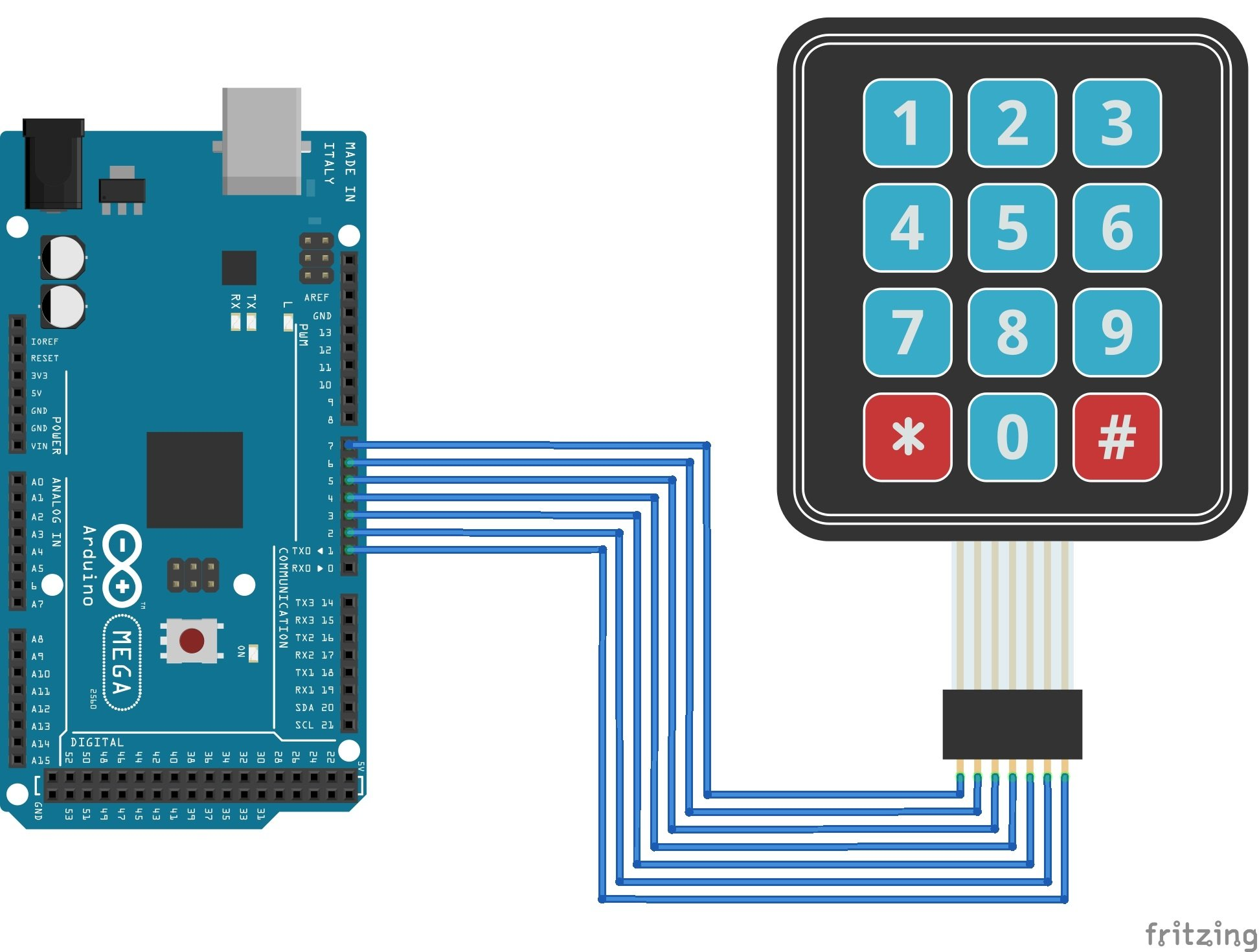 Use A Keypad With Your Arduino X8 Wiring Diagram Circuit