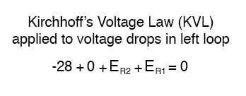 kirchhoffs voltage law applied to voltage drops