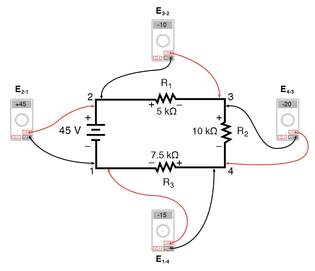 kirchoffs voltage law diagram 1