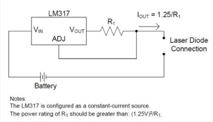 a simple laser diode driver circuit utilizing ti's lm317 (pdf)