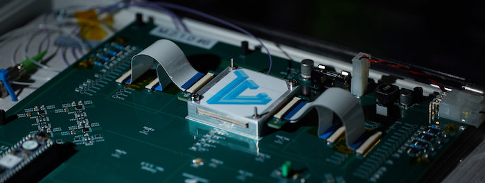 Lightelligence's optical AI accelerator prototype.