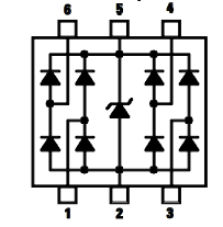 A TVS diode array designed for ESD protection of multiple I/O ports