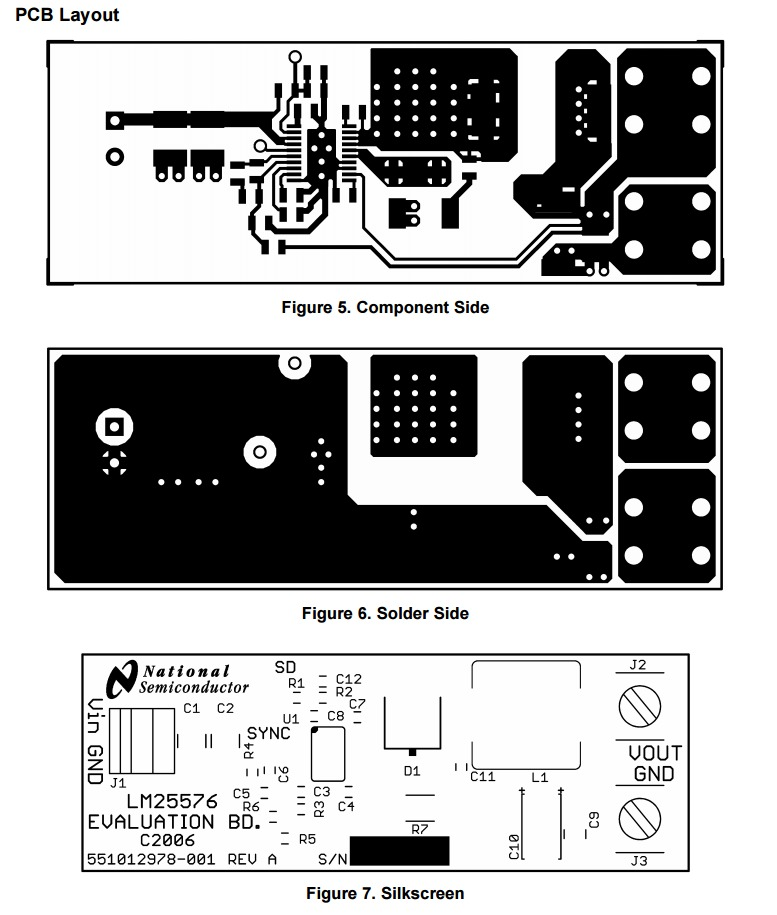 LM25576 Eval Layout