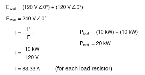 load resistor total circuit current equation