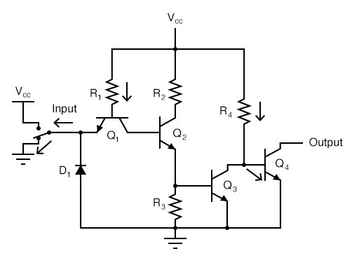 """A """"low"""" input signal (input terminal grounded)"""