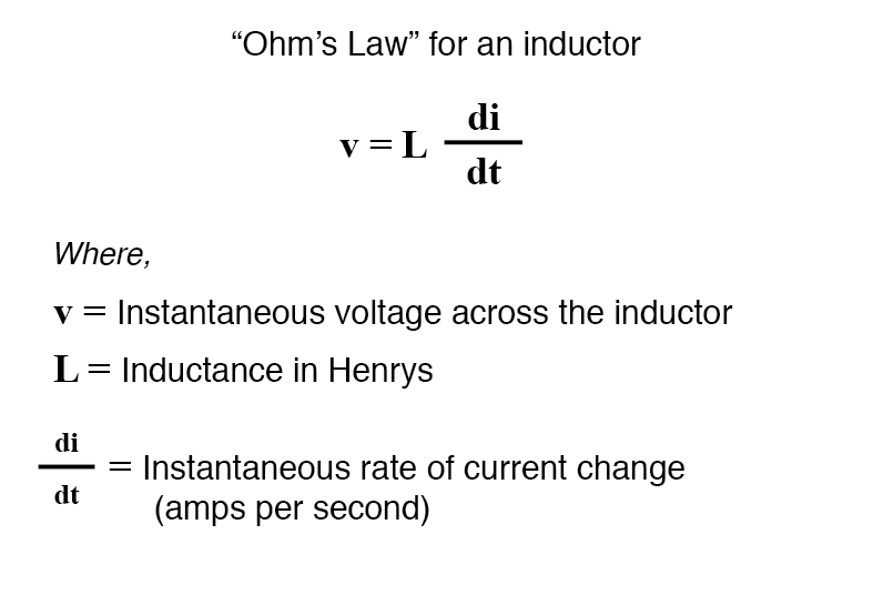 Inductors and Calculus | Inductors | Electronics Textbook
