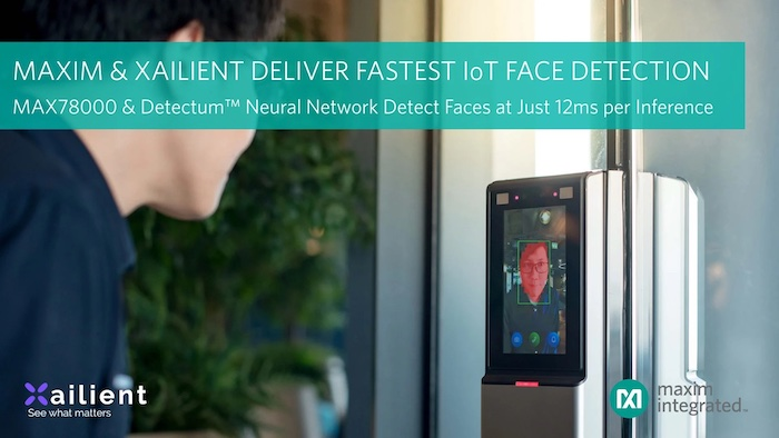 Maxim Integrated's IoT face detection reference design.