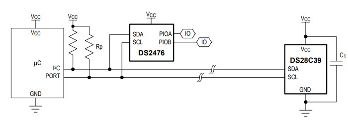Typical application circuit of DS2476