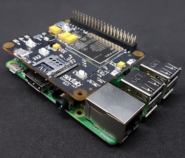 A Raspberry Pi is used in a modular design.