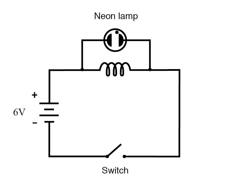 neon lamp circuit