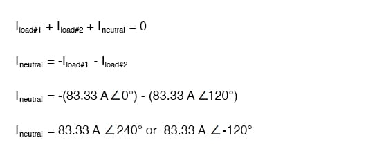 neutral wire equation