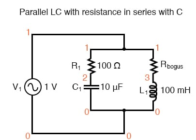 Parallel LC with resistance in serieis with C.